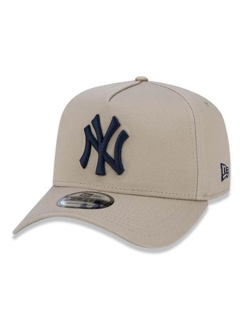 BONÉ NEW ERA TRUCKER YANKEES BEGE