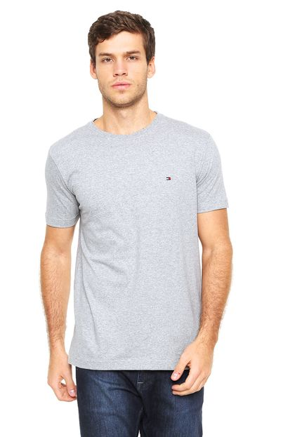 Camiseta Básica Cinza – Tommy Hilfiger