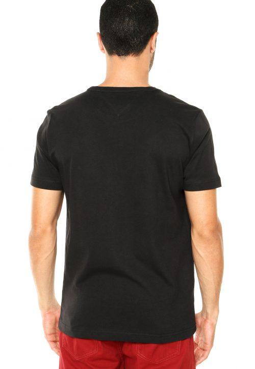 Camiseta Básica Preta – Tommy Hilfiger