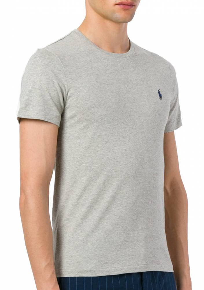 Camiseta básica Ralph lauren Cinza - The Crown fc2bcaf1d9e22