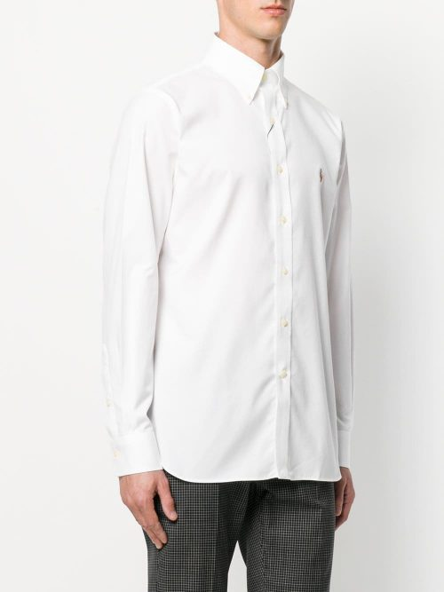 Camisa Social Branca Oxford Custon Fit – Ralph Lauren