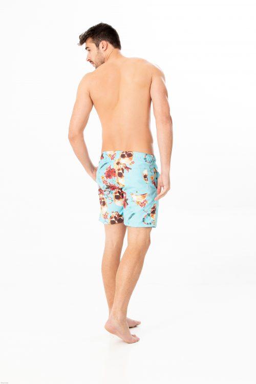 shorts de banho forinc  caveira
