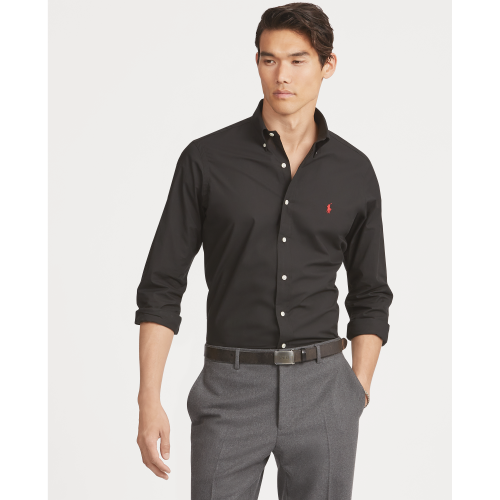Camisa Social Preta Custon Fit – Ralph Lauren