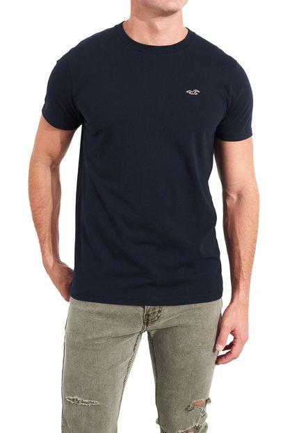Camiseta Basica Azul Marinho – Hollister