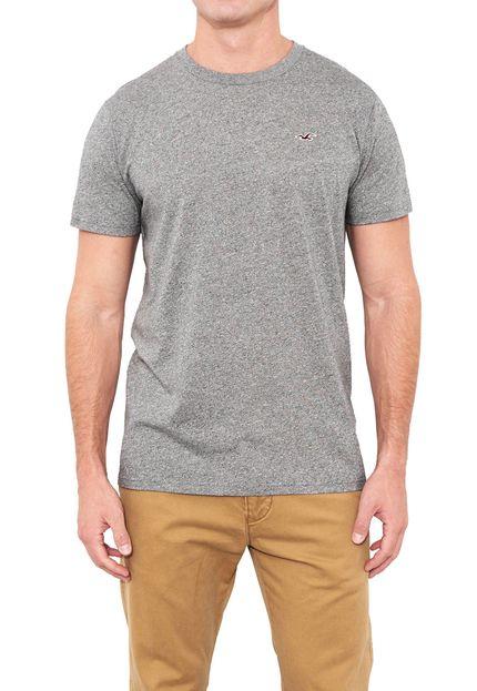 Camiseta Básica Cinza – Hollister