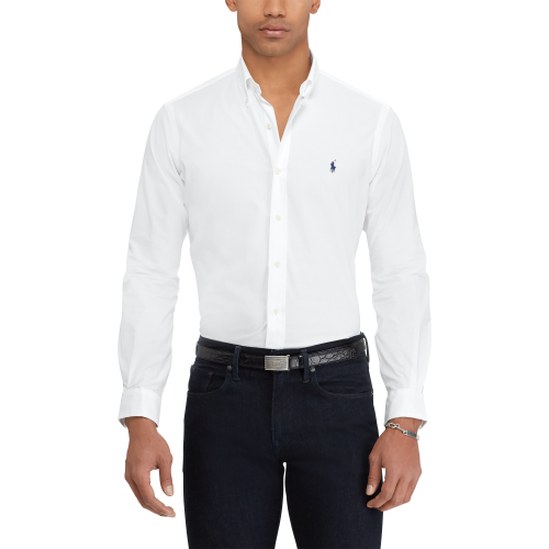 Camisa Social Branca Custon Fit – Ralph Lauren