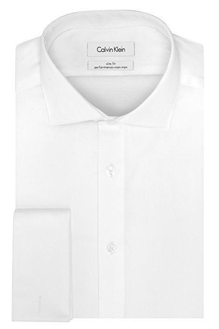 camisa social calvin klein branca slim fit