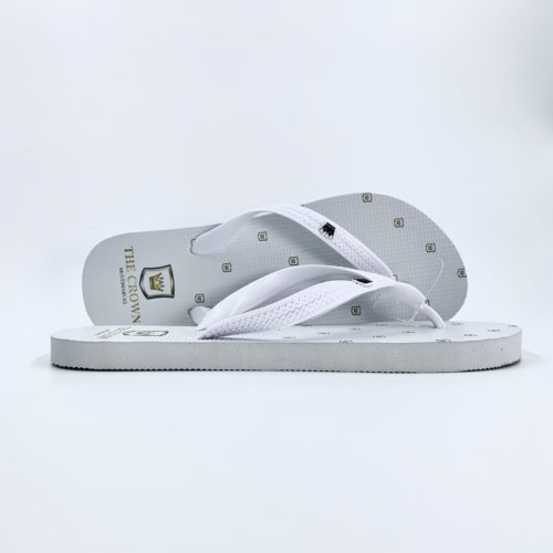Chinelo Masculino THE CROWN – Mini Logo Branco