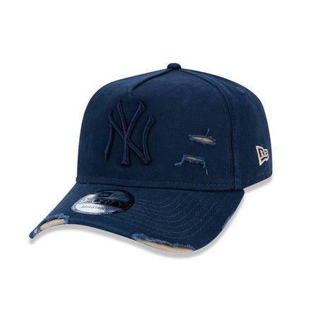 Boné Truker Yankees Destroyed Azul – New Era