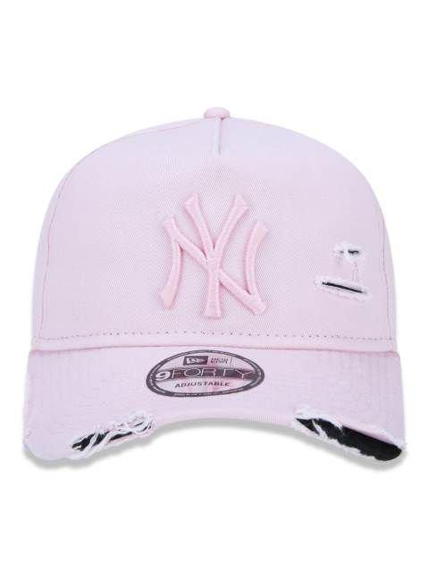 Boné Truker Yankees Destroyed Rosa – New Era