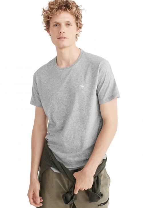 Camiseta Básica Cinza- Abercrombie