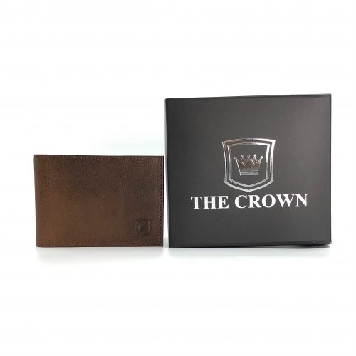 Carteira Masculina THE CROWN – CARAMELO